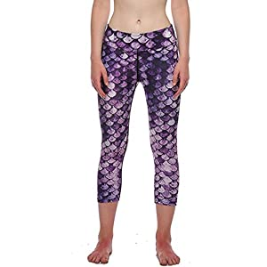Womens Printed Active Workout Capris Leggings Stretch Yoga Pants Tights(Color 21,M)