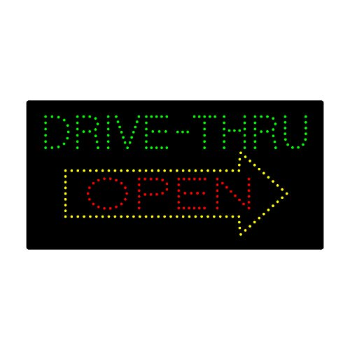 LED Drive Thru Open Light Sign Super Bright