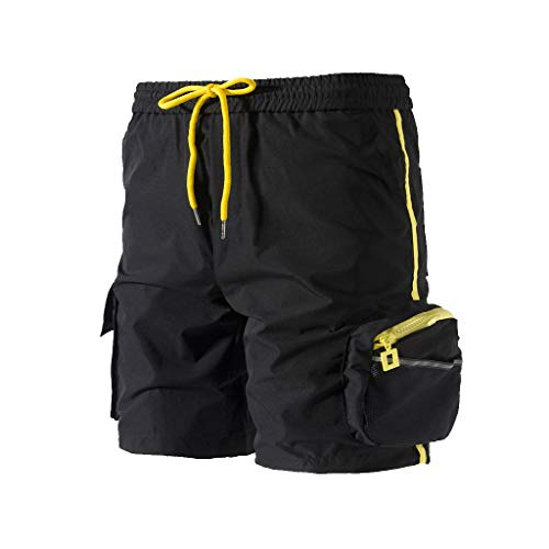 - Men's Cargo Shorts Relaxed Fit Multi-Pocket Outdoor Short Pants Elastic Drawstring Outdoor Relaxed Fit Shorts by Lowprofile