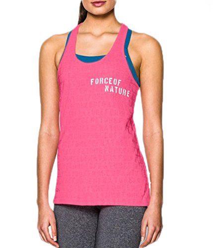 Under Armour Women's UA Charged Cotton Tri-Blend Force Of Nature Tank X-Small Cerise