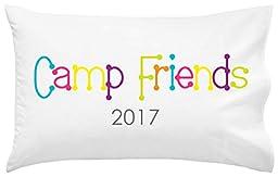 Camp Friends Autograph Pillowcase | Autograph Summer Camp Pillowcase | Sleepaway Camp Pillow Cover