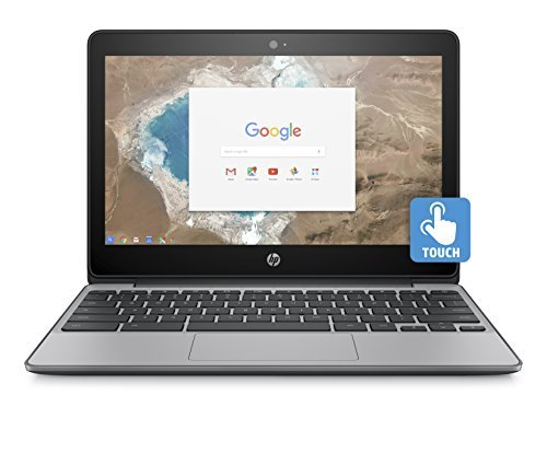 "2018 Flagship HP 11.6"" HD IPS WLED-backlit Touchscreen Chromebook - Intel Celeron N3060, 4GB DDR3, 16GB eMMC, 802.11ac, HDMI, HD Webcam, Bluetooth, 1 microSD media card reader, USB 3.1, Chrome OS"