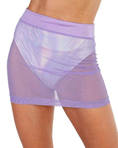 Good Halloween Music For A Party (iHeartRaves Up 2 No Good Mesh Mini Skirt (Lavender,)