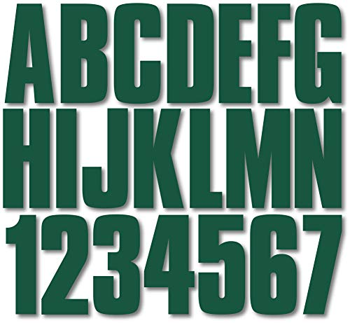 "Stiffie Uniline Racing Green 3"" Alpha-Numeric Registration Identification Numbers Stickers Decals for Boats & Personal Watercraft"
