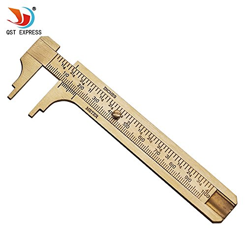 (QST Measure Measurement Tool Pocket 0-100mm Mini Brass Sliding Gauge Vernier Caliper)