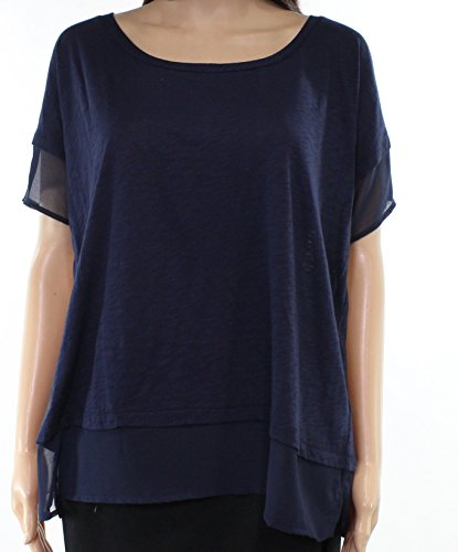 French Connection Womens Small Scoop Neck Knit Top Blue (French Connection Scoop Neck)