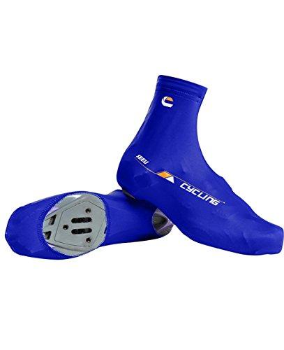 Fahrrad-Überschuhe - Männer Frauen Mountainbike-Überschuhe Winddicht Quick-Dry Anti-Rutsch-Zyklus-Schuh-Abdeckung Blau