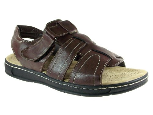 Mens JF1-33 Comfort Open Toe Sandals Brown