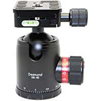 Desmond DB-40 40mm Ball Head Arca / RRS Compatible w Pan Lock Tripod & QR Plate