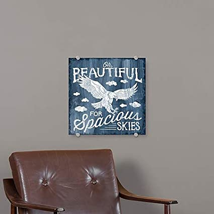 Laura MarshallAmerica The Beautiful I Premium Acrylic Sign | 16x16 5-Pack CGSignLab