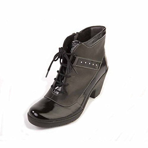 Suave Kathy Black Ankle Boots, Casual, Comfort Black