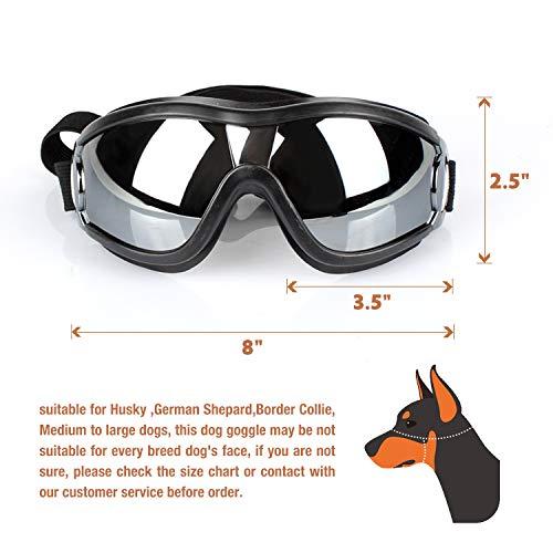 Dog Goggles - Dog Sunglasses Pet Sunglasses Medium to Large Dogs (Black) by K&L Pet (Image #3)