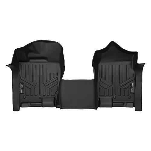 SMARTLINER Floor Mats 1st Row 1pc Liner Black for 2017-2018 Nissan Titan / 2016-2018 Titan XD Crew Cab with 1st Row Bench Seat