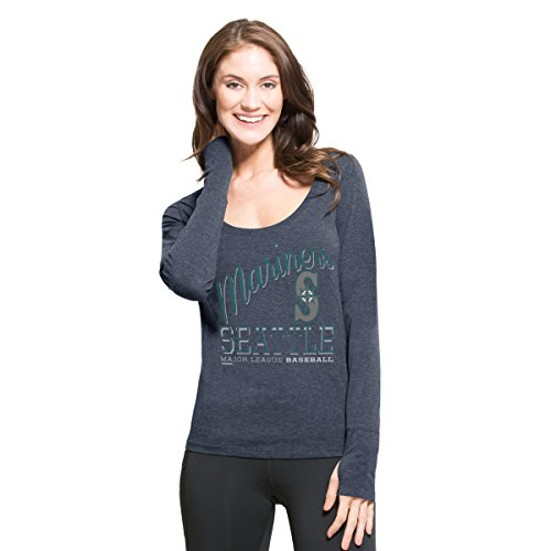 MLB Seattle Mariners Women's '47 Dash Long Sleeve Tee, Large, Shift (University Womens Cap Sleeve T-shirt)