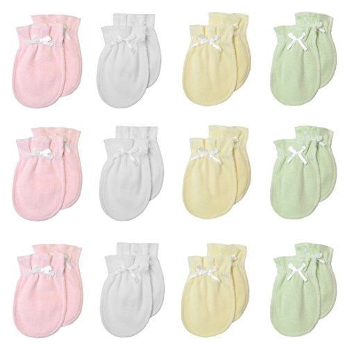 TL Care Newborn Baby 100% Cotton Scratch Free Mittens