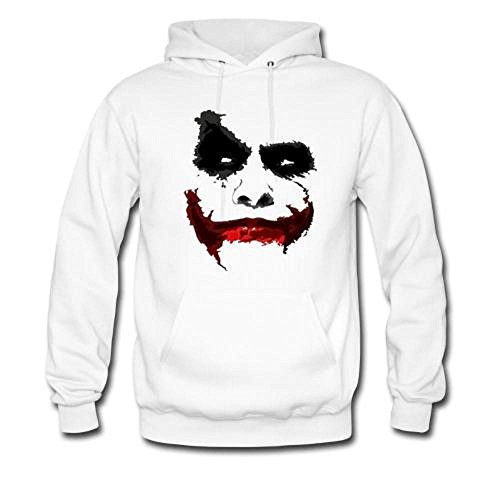 Mavis Custom Men's Joker Gildan Hoodie Sweatshirt White