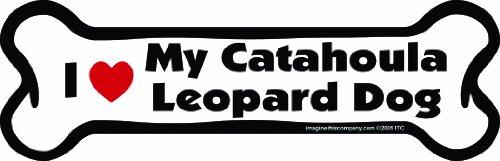 Imagine This Bone Car Magnet, I Love My Catahoula Leopard Dog, 2-Inch by 7-Inch