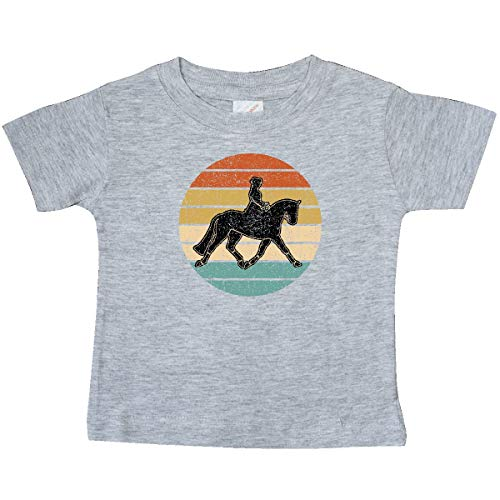 inktastic Dressage Riding Equestrian Baby T-Shirt 6 Months Heather Grey 39a87