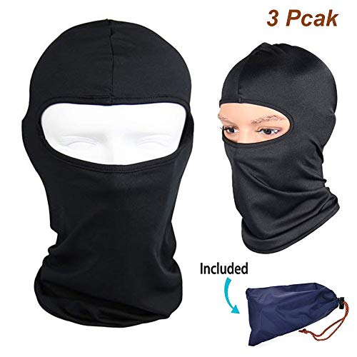 (Balaclava Full Face Mask for Women and Mens, 2Pcs Breatable Winter and Summer Weather Gear Windproof Motorcycle Helmet Neck Warmer Sun Protection Head Cover for Fishing, Riding, Ski, Running, Hunting)