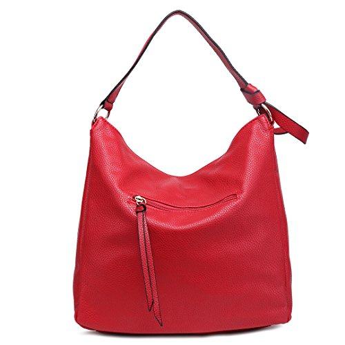 Miss 1761 Lulu Leather Bag Shoulder Handbag Red For Girl Large Fashion Women Faux Soft 7Twr7H