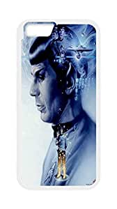 Star Trek Pattern Theme Cover Case For Apple Iphone 6 4.7 Inch - White - Rubber Case With Cool Man (Laser Technology)