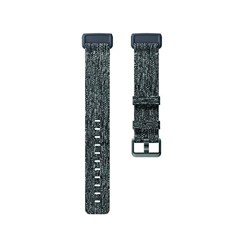 Fitbit Charge 3 Accessory Band, Official Fitbit Product, Woven, Charcoal, Small ()
