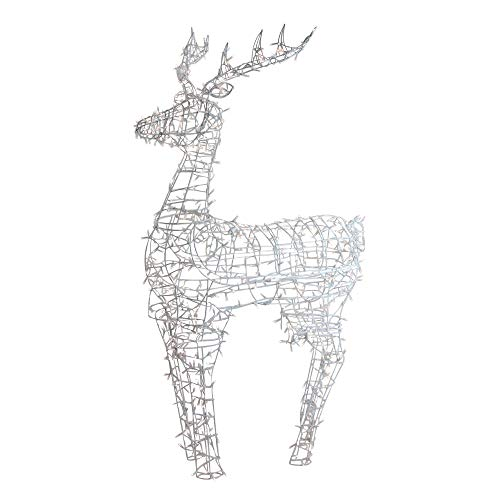 Northlight Lighted Standing Reindeer Outdoor Christmas Decoration w/Warm White LED Lights - -