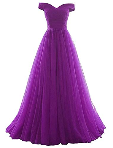 Women's A-line Tulle Prom Formal Evening Homecoming Dress Ball -