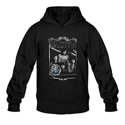 Price comparison product image Man Led Zeppelin Good Times Bad Times Hoodie Black