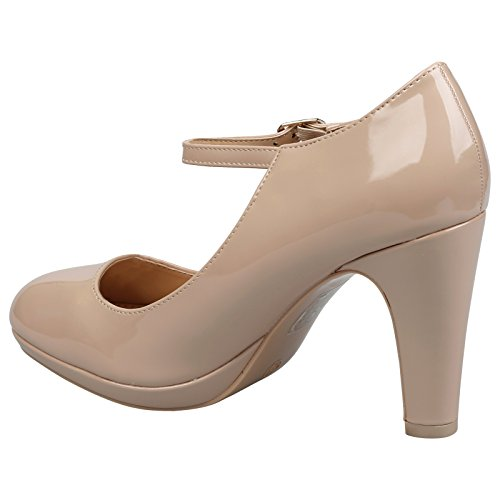 Patent Shoes Womens Jane Beige High Heel Nude Classic Emmeline ByPublicDemand Mary CnSFT7aS