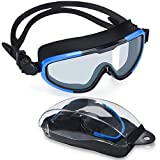 Letsfit Swim Goggles, No Leaking Anti-Fog Indoor Outdoor Swimming Goggles with UV Protection Mirrored Lenses
