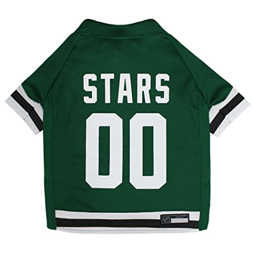 NHL Dallas Stars Jersey for Dogs & Cats, X-Small. - Let Your Pet be a Real NHL Fan!