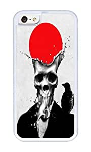 Apple Iphone 5C Case,WENJORS Cute SPLASH SKULL Soft Case Protective Shell Cell Phone Cover For Apple Iphone 5C - TPU White