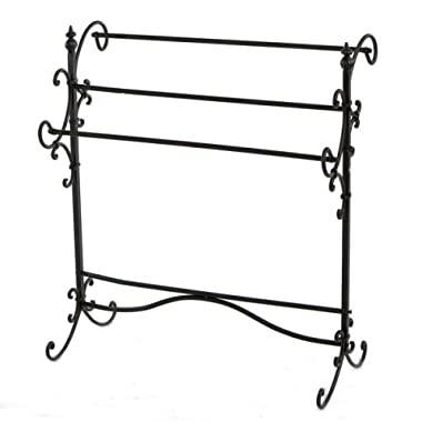 Metal Scroll Blanket Rack