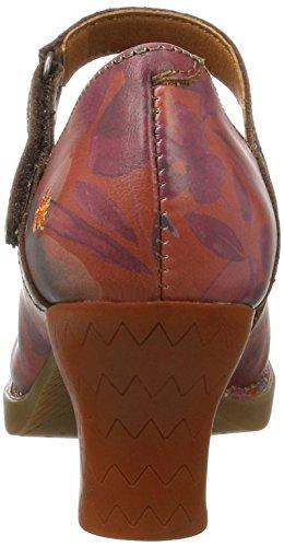 Art 933, Scarpe con Tacco Donna Arancione (Fantasy Petalo 933)