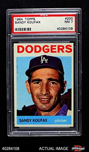 1964 Topps # 200 Sandy Koufax Los Angeles Dodgers (Baseball Card) PSA 7 - NM Dodgers from Topps