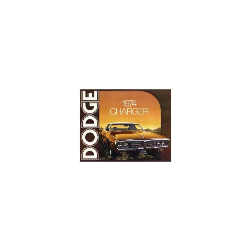 1974 DODGE CHARGER Sales Brochure Literature Book