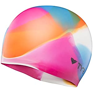 TYR Kaleidoscope Swim Cap, Multicolor