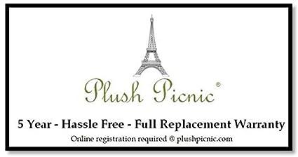 Plush Picnic/® Picnic Backpack-Black Plaid