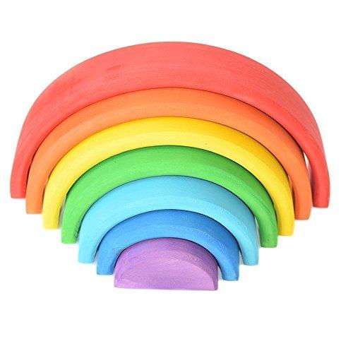 - Rainbow Stacker Montessori Toys Wooden Toys Wooden rainbow Stacker montessori materials Learning game Waldorf Toys Baby toys BESTSELLER TOYS Toddler Sensory Open ended toys Creative Educational Toys