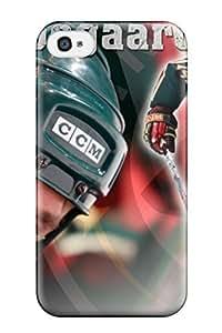 ChristopherMashanHenderson Iphone 4/4s Hybrid Tpu Case Cover Silicon Bumper Minnesota Wild Hockey Nhl (79) by kobestar