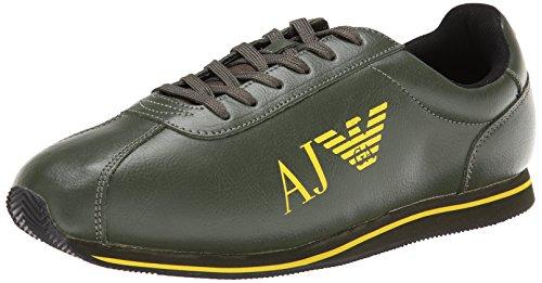 Armani Jeans Men's Logo Fashion Sneaker,Green,8 UK/8.5 M US