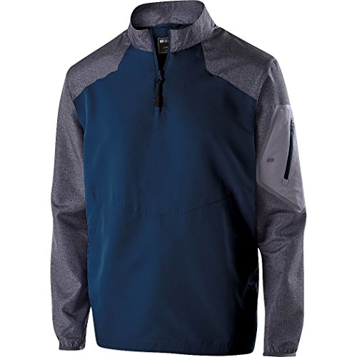Holloway Sportswear Raider Pullover Windbreaker. 229155 Carbon Print / Navy 4XL