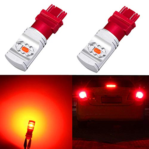 Xterra Nissan 00 Tail Light (Alla Lighting 3800lm Xtreme Super Bright T25 3156 3157 Red LED Bulbs High Power ETI 56-SMD LED 3157 Bulbs 3057 3457 4157 4057 LED Turn Signal Brake Stop Tail Light (Set of 2))