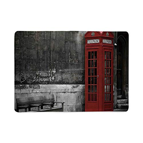 London Utility Notebooks,Famous British Phone Boot in London Streets Important Icon of Town Urban Life Photo Decorative for Work,5.82