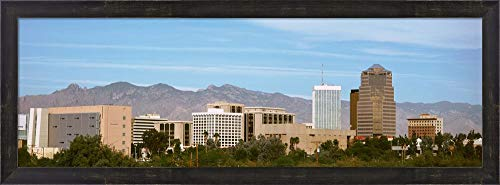 Tucson Skyline, AZ by Panoramic Images Framed Art Print Wall Picture, Espresso Brown Frame, 35 x 13 ()