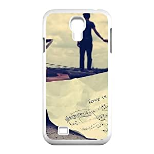 Okaycosama Funny Samsung Galaxy S4 Cases Couple Sweet Love for Women Protective, Case for Samsung Galaxy S4 for Girls, [White]