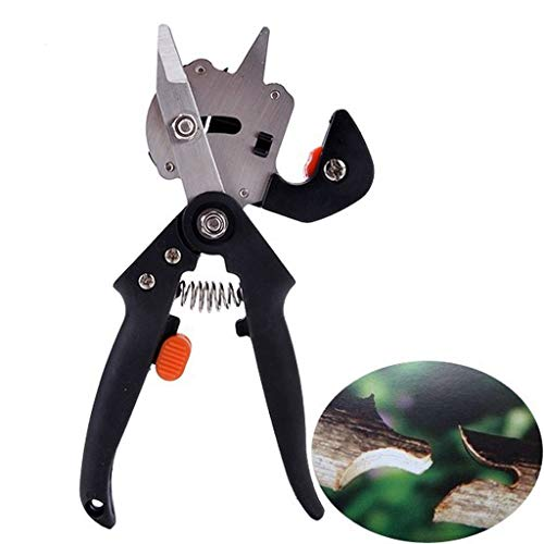 Zyooh 2019 New Hedge Clippers Shears, Professional Gardener's Grafter Secateurs Scissors Garden Plant Cutting Hand Tools (Black)