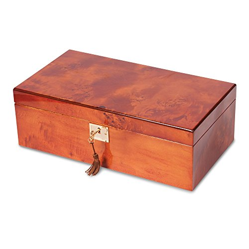 Burlwood High Gloss (Mapa Burlwood Veneer High Gloss Finish Multi Use Locking Collector Box)