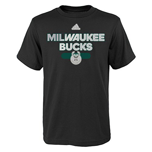 fan products of NBA Reflective Authentic Short Sleeve Tee-Black-L(14-16), Milwaukee Bucks